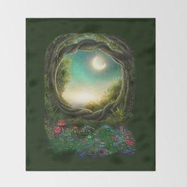 Enchanted Moon Tree Throw Blanket