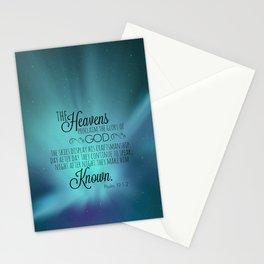 Psalm 19:1-2 Stationery Cards