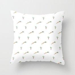 Root Veg Pattern Throw Pillow