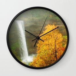 Waterfall into Fall Wall Clock