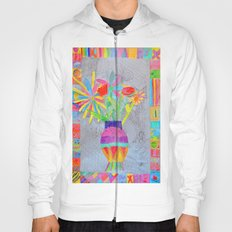 Flower Vase | Kids Painting | 3D Collage Hoody