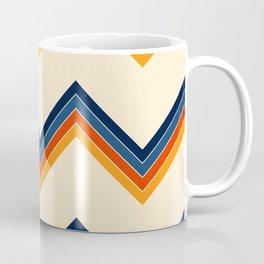 V Shape Surfing Summer Retro Stripes Pattern Satiada Coffee Mug
