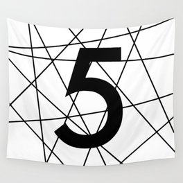 Prime number 5 / minimalist design Wall Tapestry