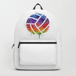 Volleyball Ball Colorful Watercolor Art Sports Gift Backpack