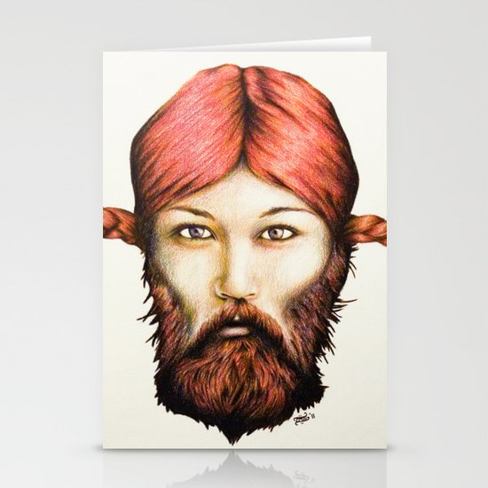 Wendy, The Bearded Lady Stationery Cards