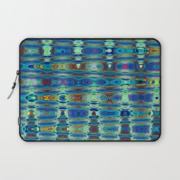 Abstract High Texture Weaving Pattern Blue Green Laptop Sleeve