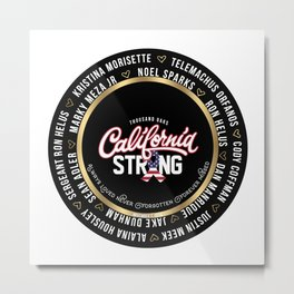 Thousand Oaks California Strong Keepsake Sticker  In Loving Memory Victim Names Metal Print