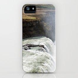 Gullfoss waterfall (Iceland) iPhone Case