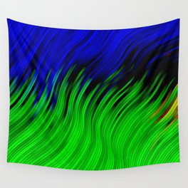 stripes wave pattern 2 with lines vtgi Wall Tapestry