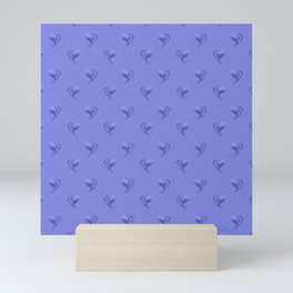 minimalistic watercolor scribble seamless pattern c39 Mini Art Print