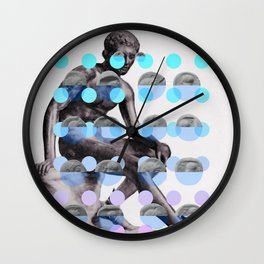 Statue With A Dot Gradient 2 Wall Clock
