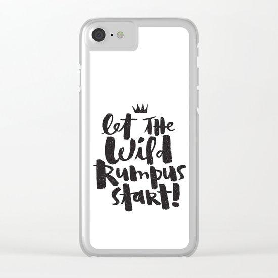 WILD RUMPUS Clear iPhone Case