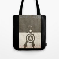 america Tote Bags featuring America by Christophe Chiozzi