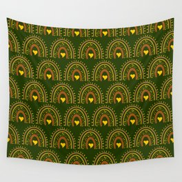 vintage rainbow country green Wall Tapestry