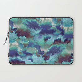 Aqua Blue TieDye Camo Laptop Sleeve