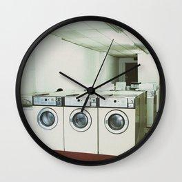 Grungy Laundromat Wall Clock