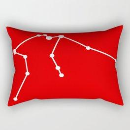 Aquarius (White & Red) Rectangular Pillow