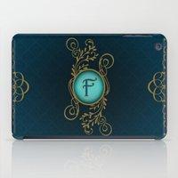 monogram iPad Cases featuring Monogram F by Britta Glodde