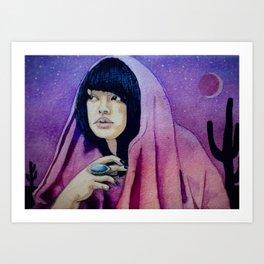 The Setter of Desert Suns Art Print