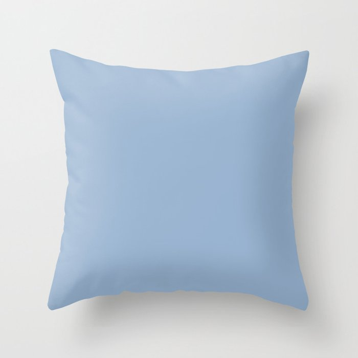 Sherwin Williams Trending Colors of 2019 Celestial (Pastel Blue) SW 6808 Solid Color Throw Pillow