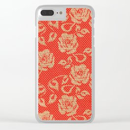 Lace Jute Clear iPhone Case
