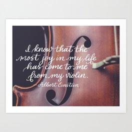 Joy in Life from Violin Art Print
