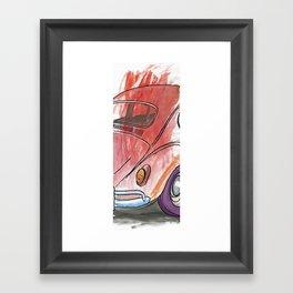 Red Bug Framed Art Print
