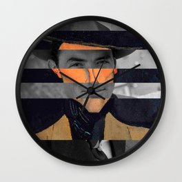 Modigliani's Portait of A Man with Hat & Gregory Peck Wall Clock