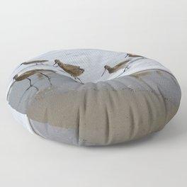 Sandpiper Convention at Malibu Colony Floor Pillow