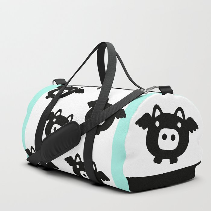 Pigs Will Fly (b&w) Duffle Bag