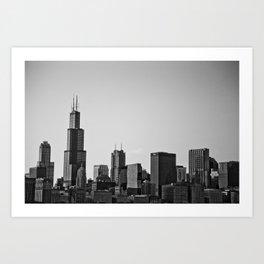 Chicago in B&W Art Print