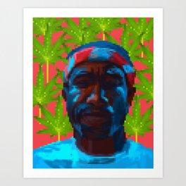 Frank  fanart with pixels Art Print