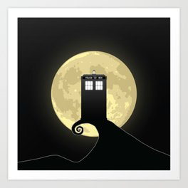Nightmare Before A Tardis Art Print