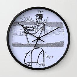 1887 Oarsman's Harness Blue Patent Blueprint Boat Wall Clock