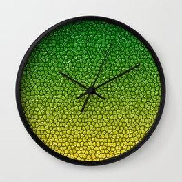 Green/Yellow Reptile Skin Wall Clock