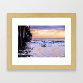 Ever Changing Cayucos Pier and Beach California Framed Art Print