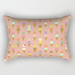 Ice Cream Cone Pattern Pink Robayre Rectangular Pillow