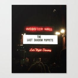 The Last Shadow Puppets- Webster Hall 4/11 Canvas Print