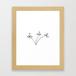 Star flowers Framed Art Print