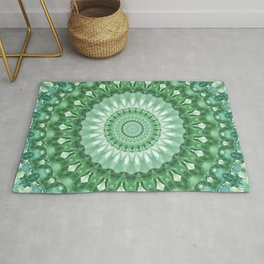 Emerald Green Mandala Rug