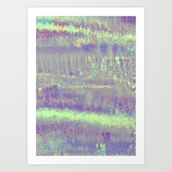 Mermaid metallic Art Print