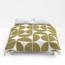 Mid Century Modern Geometric 04 Flat Gold Comforters