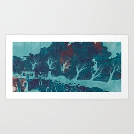 Let the wind carry me  Art Print