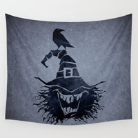 witch Wall Tapestries featuring witch by Erdogan Ulker