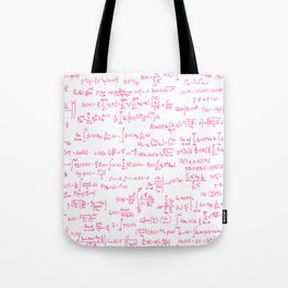 Pink Math Equations Tote Bag