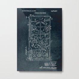 1972 - Pinball machine Metal Print