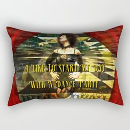 I Start My Day With A Dance Party Rectangular Pillow