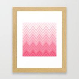 Fading Pink Chevron Framed Art Print