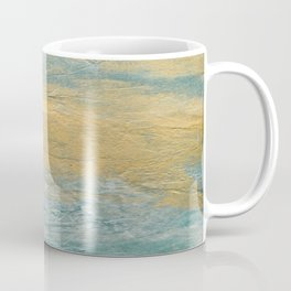 Copper Turquoise #03 Abstract Texture Coffee Mug