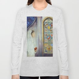 "Odilon Redon ""Portrait of Simone Fayet in Holy Communion"" Long Sleeve T-shirt"